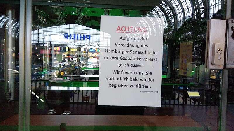 Kneipen und Restaurants geschlossen wegen Corona Lockdown